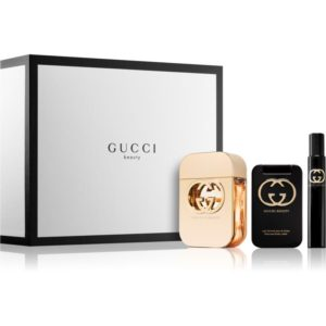Gucci Guilty pour femme 75ml edt + 100ml body lotion + 7.4ml roller ball