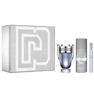 Paco Rabanne Invictus 100ml edt + 150ml deodorant natural spray + 10ml travel spray