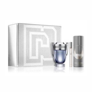 Paco Rabanne Invictus 50ml edt + 150ml deodorant natural spray + 10ml travel spray