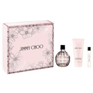 Jimmy Choo 100ml edp + 7.5 travel spray + 100ml body lotion