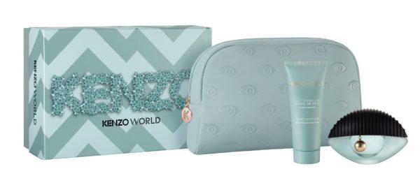 Kenzo World 50ml edp + 75ml body lotion + kenzo blue pouch