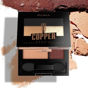 Aura quattro eyeshadow pallete Copper