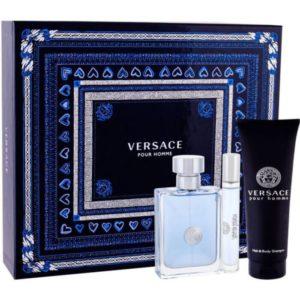 Versace Pour Homme 100ml edt + 10ml travel spray + 150ml hair & body shampoo