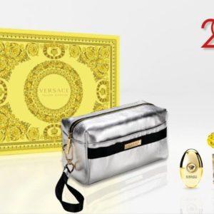 Versace Yellow Diamond 90ml edt + 10ml Travel Spray + Versace Silver Pouch