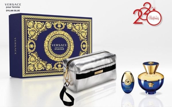 Versace Dylan Blue pour femme 100ml edp + 10ml travel spray + Versace silver pouch