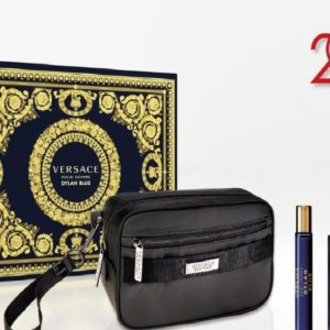 Versace Dylan Blue 100ml edt + 10ml travel spray + Versace black trousse