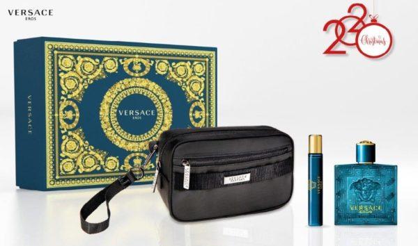 Versace Eros 100ml edt + 10ml travel spray + Versace Black Trousse