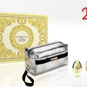 Versace Eros pour femme 100ml edp + 10ml travel spray + Versace silver pouch