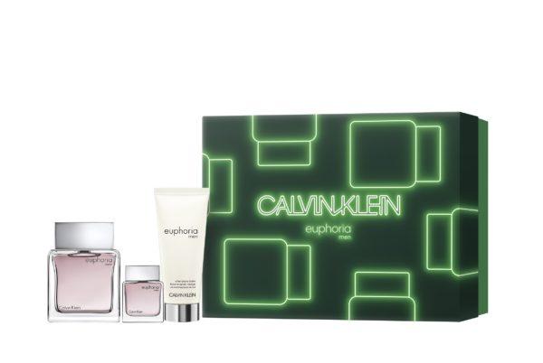Calvin Klein Euphoria men 100ml edt + 15ml travel spray + 100ml after shave balm