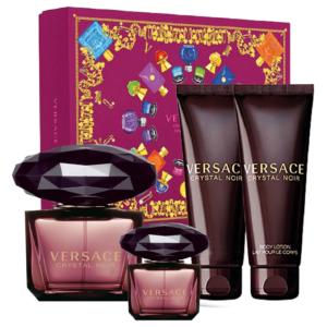 Versace Gift Set Crystal Noir edt 90ml + edt 5ml + Body Lotion 50ml + Shower Gel 50ml