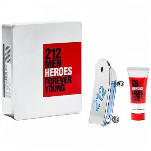212 Heroes Eau De Toilette 90ml + Shower Gel 100ml