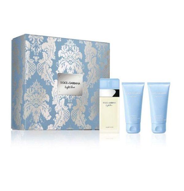 D&G Light Blue EDT 50ml + Body Lotion + Shower Gel